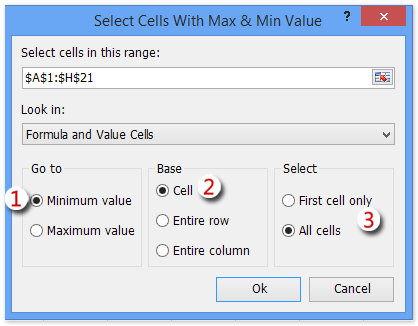 shot select max min values 3