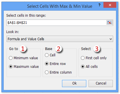 shot select max min values 9